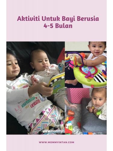 Aktiviti untuk bayi berusia 4 – 5 bulan